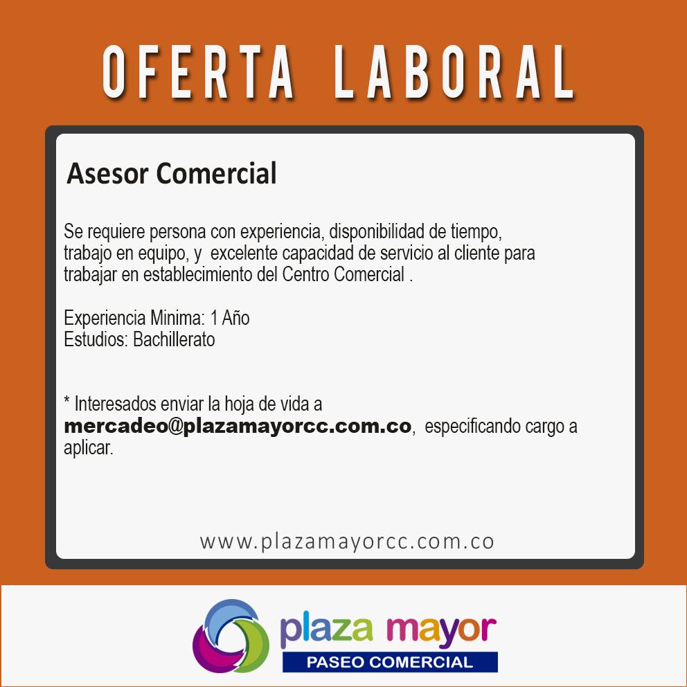 Bolsa de Empleo - Plaza Mayor Paseo Comercial